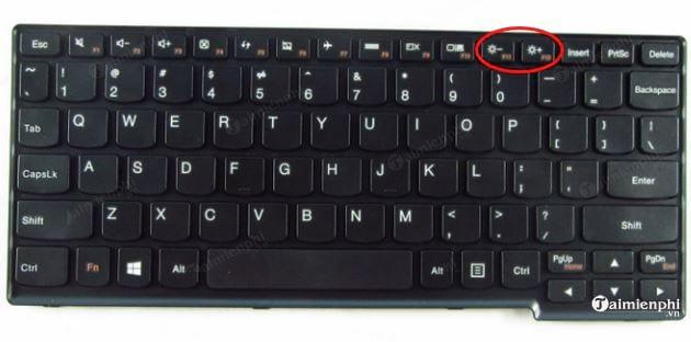 chinh tang hoac giam do sang man hinh laptop lenovo don gian 2