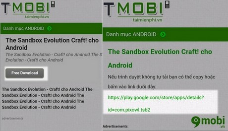choi game The Sandbox Evolution cho android