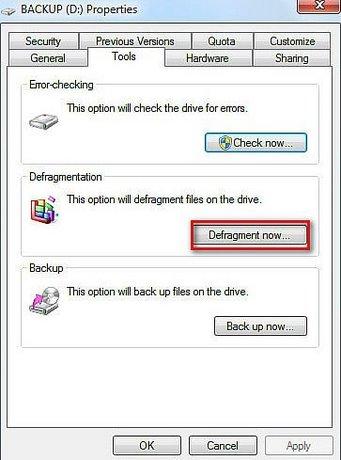 chong phan manh o cung bang chuc nang Disk Defragmenter