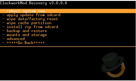 clockworkmod recovery cho android la gi 2
