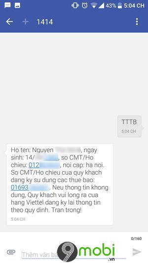 cu phap kiem tra thong tin thue bao viettel 2
