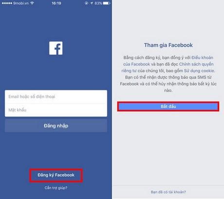 dang ky facebook tren dien thoai