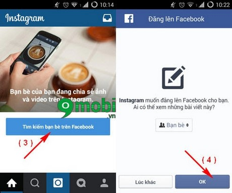 dang ky instagram bang facebook