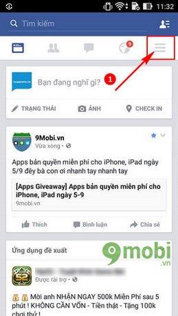 cach dang xuat tai khoan Facebook cho Android