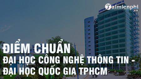 diem chuan dai hoc cong nghe thong tin dai hoc quoc gia tphcm