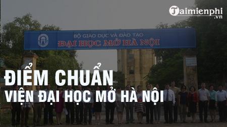 diem chuan vien dai hoc mo ha noi