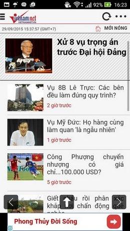 doc bao vietnamnet tren iphone