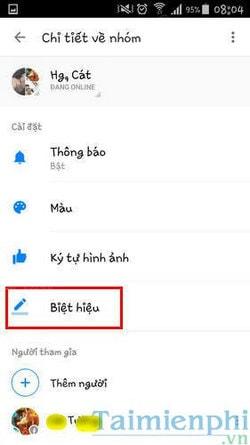 cach doi ten nick tren facebook messenger