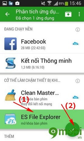 dưa nhung ung dung chay nen vao che do ngu dong tren Android