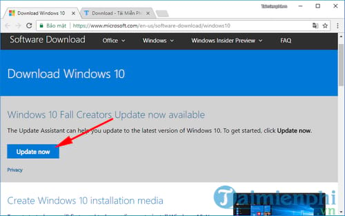 nang cap windows 10 tu windows 7 8 8 1 2