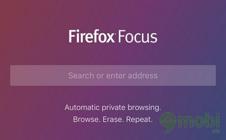 ung dung firefox focus cho iPhone