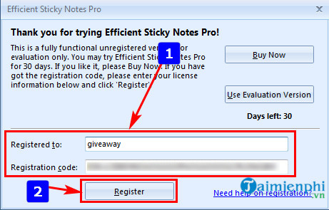 giveaway ban quyen mien phi efficient sticky notes pro tao nhac nho ghi chu 2