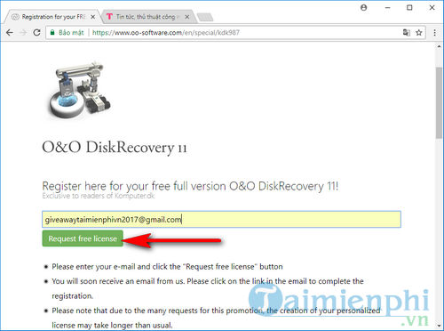 giveaway ban quyen mien phi o o diskrecovery 11 2