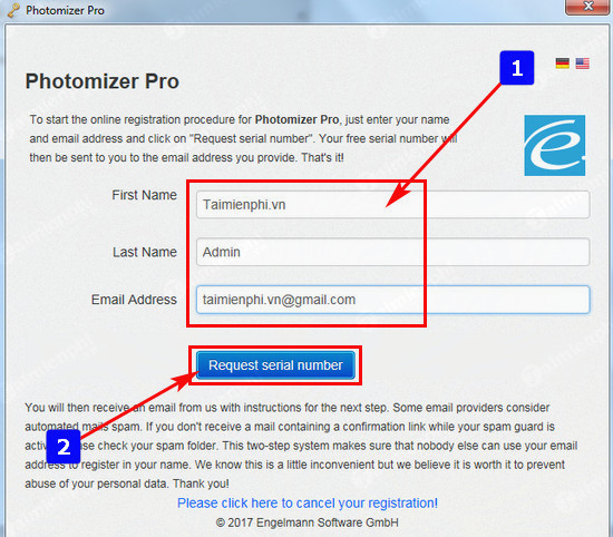 giveaway photomizer 2 se mien phi