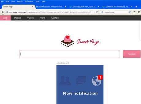 how to delete sweet page