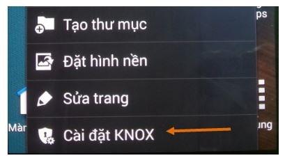 gỡ bỏ Knox trên máy Samsung