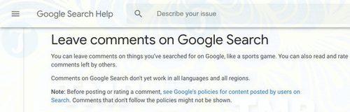 google cho phep nguoi dung them nhan xet tren cac ket qua tim kiem 2