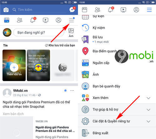 huong dan cach doi ten facebook 1 chu tren dien thoai android iphone 2