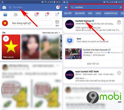 huong dan choi confetti tren facebook 2