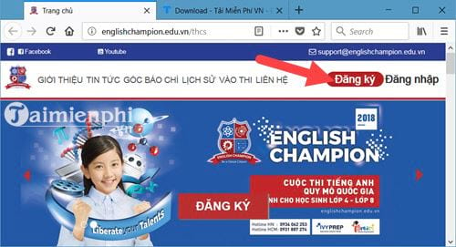 huong dan dang ky thi english champion 2