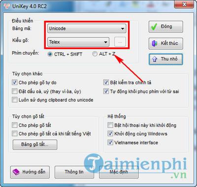 huong dan go tieng viet trong skype bang unikey 2
