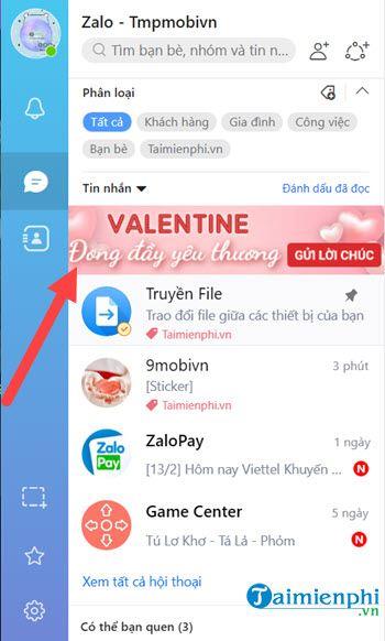 huong dan gui sticker valentine tren zalo pc 2