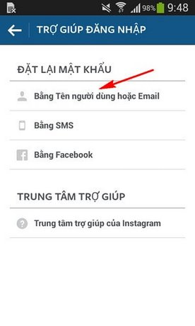 how to change instagram password with email