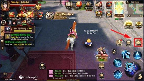 huong dan nhap code game dao kiem vo mobile 2