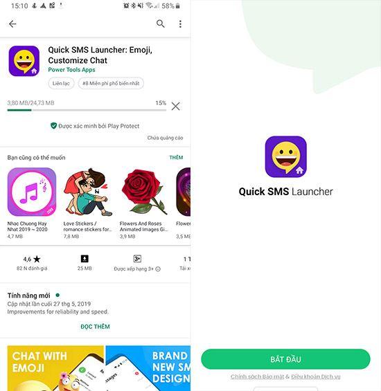 huong dan tai va su dung quick sms launcher 2
