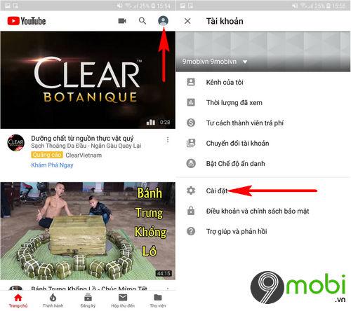 huong dan thay doi giao dien youtube tren android 2