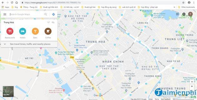 huong dan xem mat do giao thong tren google maps 2