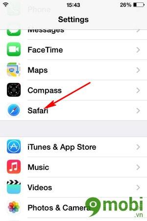 sử dụng tính năng nội dung ưa thích của Safari của iphone 6 plus, 6, ip 5s, 5, 4s, 4