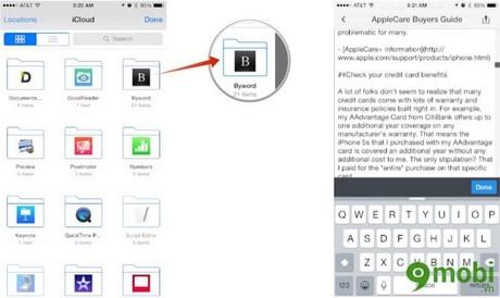 xem file trên iCloud Drive trên iphone 6 plus, 6, ip 5s, 5, 4s, 4 thế nào