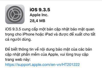 nhung tinh nang moi tren iOS 9.3.5