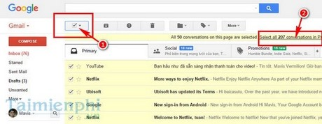 quan ly hop thu trong gmail