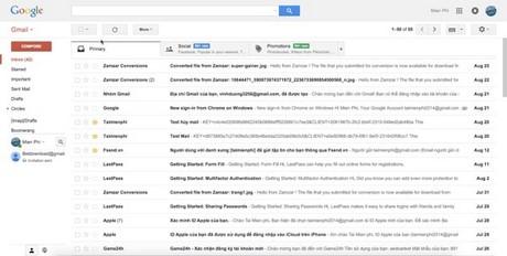 kiem tra mo mail da gui gmail