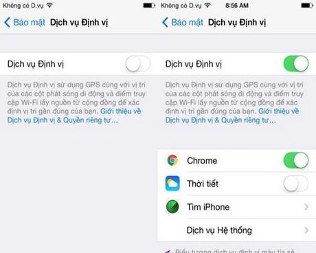 loi GPS khi nang cap len iOS 8.4