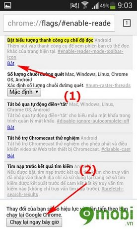 How to enable Google Chrome to read news on new version