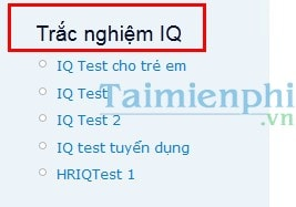 Test chi so IQ