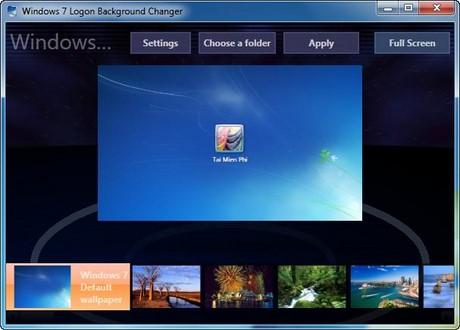 Refresh win 7 logon screen with windows 7 logon background - Windows 7 wallpaper changer software ...