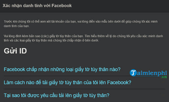 cach lay lai mat khau password facebook bang chung minh nhan dan