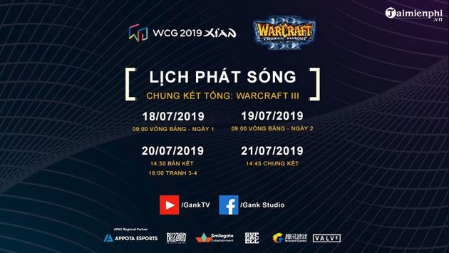 lich thi dau chinh thuc chung ket tong wcg 2019 2