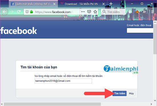 link mo khoa facebook khi quen mat khau 2