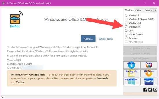 link tai file iso windows 10 32bit va 64bit khong can dung media creation tool 2