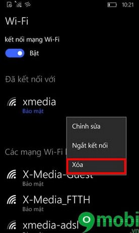 winphone loi wifi