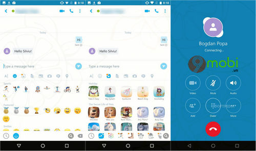 microsoft cap nhat skype outlook cho android 2