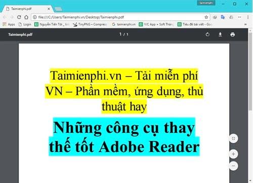 nhung cong cu thay the tot adobe reader 2