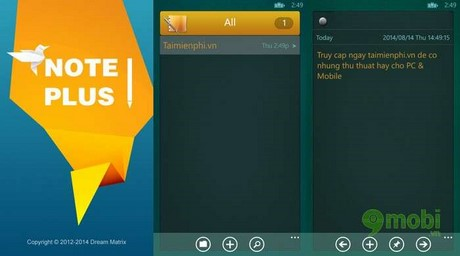 note plus for windows phone