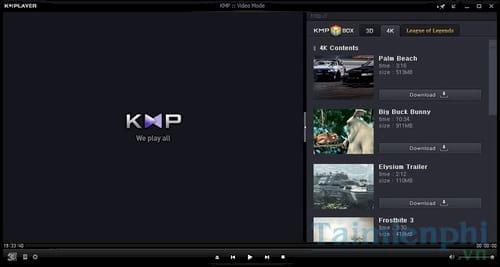 phan mem nghe nhac xem phim hay kmplayer vlc itunes windows media player 2