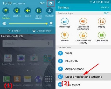 phat wifi tu Samsung